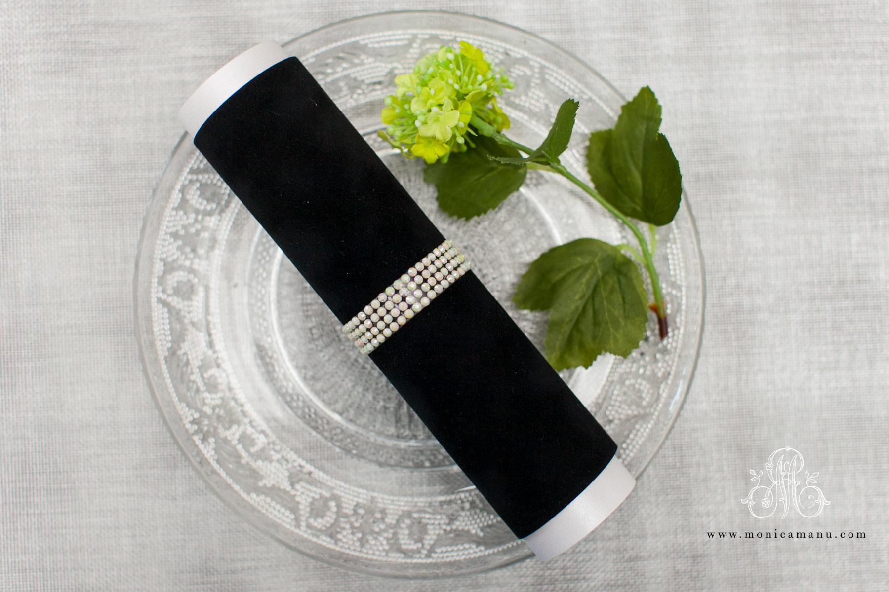 Invitatie Nunta Eleganta Catifea Neagra Monica Manu