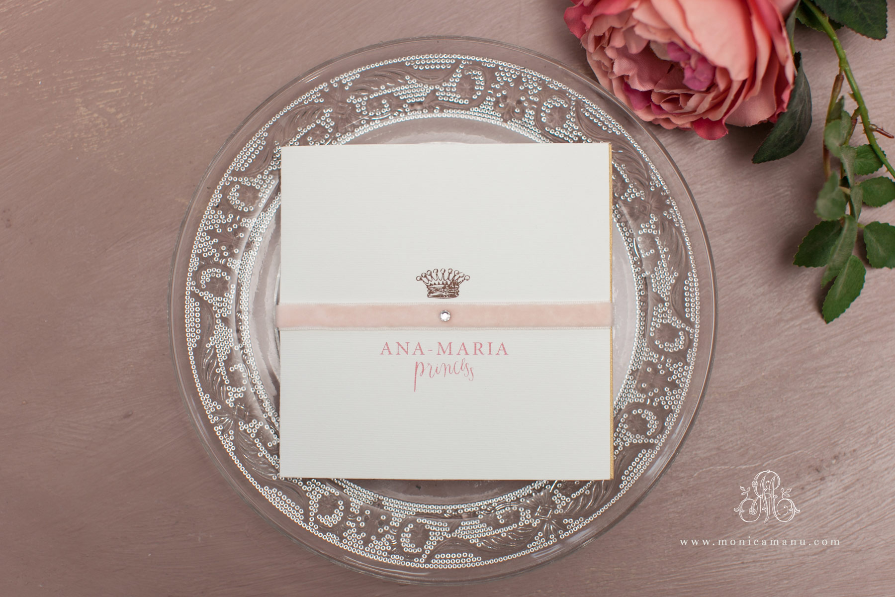 Invitatie Botez Princess Monica Manu